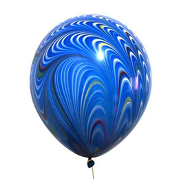 Wholesale Tail Balloons - New 18 inch peacock tail latex balloon multicolor optional party wedding decoration latex balloon wholesale