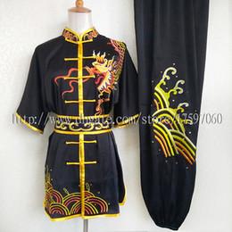Chinese Wushu uniforme Kungfu roupas de artes marciais atender taolu equipar traje competição de rotina para homens, mulheres, crianças menino menina miúdos adultos de Fornecedores de macacão de super-heróis