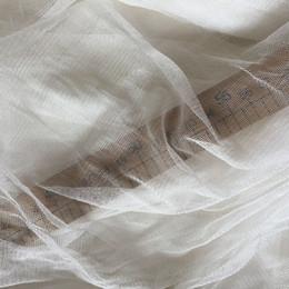 transparente tüll abendkleid Rabatt Howmay 100% reiner silk Tüll gestrickt 30gsm 135cm weiß transparent weichen Tüll Stoff für Hochzeitskleid Abendkleid