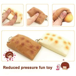 Wholesale Wholesale Cellphone Charms - Japan rice Cake Stretchy Squishy Keychain Decompress Toy Cellphone Charm Gift Decompression gift toy keychain 2colors FFA099