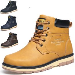 Wholesale Thermal Cotton Boots - Winter autumn winter Martin boots male outdoor wear resistance thermal protection anti-skid shock absorber frock cotton boots
