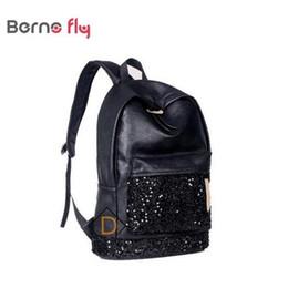 0a8ecc12d1fa Оптовая продажа-Новый 2017 Женская мода рюкзак PU кожаный рюкзак школьные  сумки большая корона вышитые блестки рюкзак