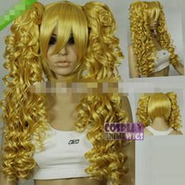 Бесплатная доставка + + + + + + карамель блондинка 0.6 м косплей парик + клипон длинные вьющиеся хвост cheap wig cosplay blonde ponytail от Поставщики парик косплей блондинка-конский хвост