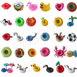 2019 décorations de porte du nouvel an chinois Nouvelle tasse gonflable Float Flamingo Cup Holder Coasters Porte-boisson gonflable pour la piscine Air Matelas pour la Coupe Party Supplies