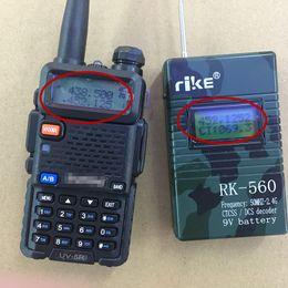 radio sensible Rebajas Medidor de frecuencia manual de alta sensibilidad 50 mhz-2.4G para radio walkie talkie jamón CTCSS DCS decodificador