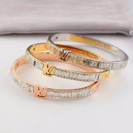 Bijoux modeschmuck stahl online-Marke bijoux armreifen niet 316 l titanium edelstahl voller kristall armreifen armbänder modeschmuck für frauen und männer 2019 neue