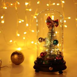 Luci dell'albero di natale della candela online-Natale creativo di vetro di Natale del paralume di Natale del regalo di vetro artificiale della candela del regalo di vetro di Natale