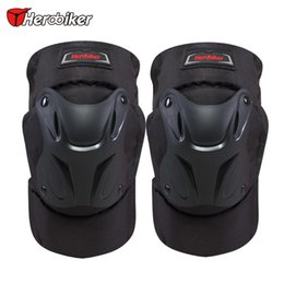bicycle armor Coupons - HEROBIKER Black Motorcycle Motocross Kneepads Bike Bicycle Pads Racing ATV Knee Pads Protective Guards Armor Protect Gear