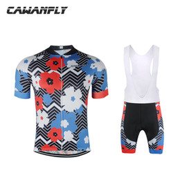 Wholesale Women Suits Designs - Sun Flower Design Roupa Bike Clothes 2018 Hot Short Sleeve Men  Women Cycling Clothes Ciclismo Maillot Outdoor Sport Cycling Suit
