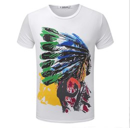 Wholesale Blue T Shirts For Men - Fashion T Shirts For Men Indian Totems T-shirt Shorts Sleeve Brand NEW Summer Male Tops Tees Casual Tshirt