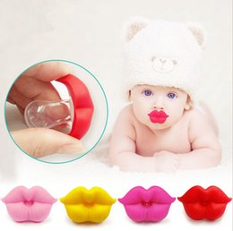 Wholesale Lips Baby Dummy - Baby Pacifier Funny Soother Orthodontic Food Grade Silicone Nipple Teether Dummy Lip Safe Multi Color Optional NNA187