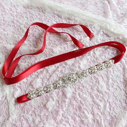 Mujeres Cinturones de Cintura Floral Cummerbunds Elegante Rhinestone Cinta de Satén Sash Novia Accesorios Del Banquete de Boda Vestido Cinturones de Cintura desde fabricantes