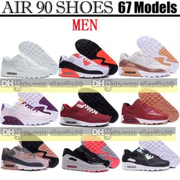 Wholesale Lime Green Flats - New Air Womens Running Shoes Sport Original Cheap Classical Air Cushion 90 Sports Shoes Women Flat Breathable Flowers Sneakers Size 40-45