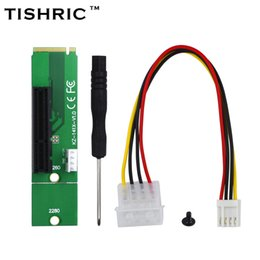 Wholesale Ide Adapter Card - TISHRIC NGFF M2 M.2 to PCI-E 4x 1x Slot Riser Card Adapter Male To Female PCIE Multiplier For BTC Miner Mining Machine 100pcs lot