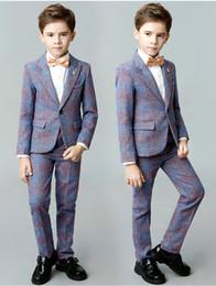 Fotos de ropa formal online-Nueva Llegada de Alta Calidad de Tres a Cinco Piezas Trajes de Niños Cuadros Reales Ropa de Niños Conjuntos Trajes de Esmoquin