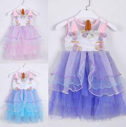 Princesa de hadas rosa online-Fancy Girls Pink Dress Fairy Princess Disfraz para Niños Bordado Vestidos de fiesta de cumpleaños Junior Wedding Event Gowns Dress