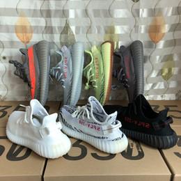Wholesale Running V2 - Hot Sale Boost 350 V2 Zebra Cp9654 Orange Grey Beluga 2.0 AH2203 Black Red Bred CP9652 Kanye West Running Shoes For Sale
