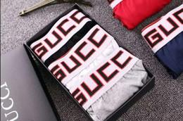 G diseño de letras online-G Fashion Men Underwear Boxers Cotton 5 Color L-XXL Transpirable Carta Underpants Shorts Diseño de la marca de lujo Cuecas Tight Waistband