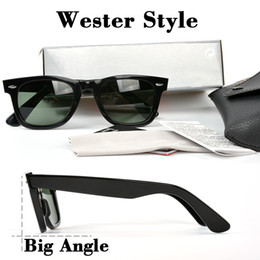 Wholesale Stickers Cases - High quality Western style Brand Sunglasses classic Designer square Frame G-15 sticker Mens Sunglasses for Women with case