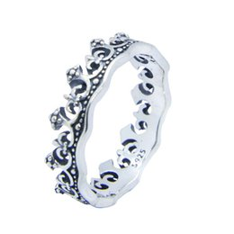 Wholesale royal wedding bands - Rany&Roy New Design 925 Sterling Silver Royal Crown Ring S925 Jewelry Lady Girls Fashion Crown Ring