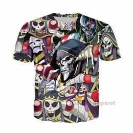 vampire games Coupons - SOSHIRL New Brand Anime T-shirt Over Lord Cool Vampire Streetwear Punk Hip-hop Tee Unisex Comic Fans Tops Hipster Game T Shirts
