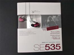 Canada Shure SE535 Écouteurs intra-auriculaires HIFI avec atténuation du bruit Casques mains libres avec kit d'emballage LOGO Bronze livraison gratuite Offre
