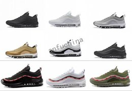 Wholesale High Sole Sneakers - 2018 newest colors men air 97s running shoes high quality air cushion 97 OG Metallic sneaker women's air sole sports shoes