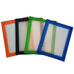 Aceite de bho online-Aprobado por la FDA estera antideslizante de cera bb pequeña y no pegajosa de aceite de silicona Estera de silicona con fibra de vidrio 102x127mm