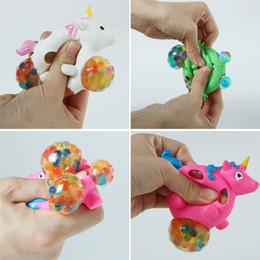 malla de látex Rebajas Divertido Squishy Unicornio Grape Ball Beads Vent Malla Bola Latex Squeeze Descompresión Anti Estrés Relevante Niños Niños Juguete Novedad AAA1112