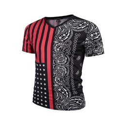 7a587c447f0b8 2018 Sunner Mens Fashion Tops 3D Stretch Self-Cultivation Personality  Creative Taste Printed V-Neck T-shirt Casual Short Sleeve Tops M-3XL
