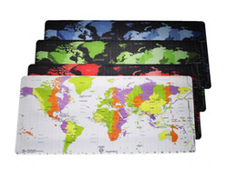 Wholesale computer pads tablets - Super Locking Edge large 900*400*3cm Game Mouse Pad high quality DIY pictures the world map big huge size for computer tablet