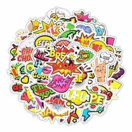 sticker toilet wall waterproof Coupons - Text Letter Stickers Funny Graffiti Stickers for Luggage Skateboard Bicycle Car Styling Waterproof Sticker Rrandom 150Pcs lot