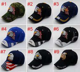 6fcb6e3fe6c Fashion Baseball Cap Embroidery USA Flag Eagle Pattern Snapback Leisure  Dome Hat For Men And Women 9colors eagle cap for sale