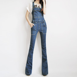 76450c9610 Free Shipping 2018 Boot Cut Jeans Plus Size 24-30 Pants For Tall Women  Overalls Jumpsuit And Rompers Denim Trousers With Zipper
