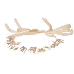 Canada Bandeau De Mariage Élégant Feuille D'or Doux Coiffure Bandeau Cheveux Vigne Cheveux Accessoires pour mariée Fleur Filles Demoiselle D'honneur Offre
