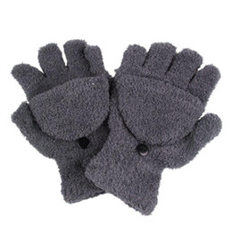 Canada 1 paire chaude mode dames main poignet gants mélange de coton plus chaud hiver gants sans doigts Offre