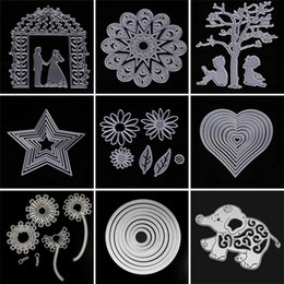 Wholesale Flower Die Cuts - Oblong Shape Embossing Scrapbooking Photo Album Decorative New Creative Carbon Steel Flowers Cutting Dies Many Styles T2I276