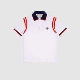 Argentina Hombres polos de diseño de moda hombres camiseta bordado Bee manga corta polo marca Top básico Streetwear moda camisetas M-3XL supplier mens polo tops Suministro