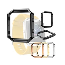 Wholesale Fitbit Accessories - Epacket 1pcs UP Metal Frame 4 Kinds Colour Stainless Steel Fitbit Blaze Watch Accessories For Fitbit Blaze Tracker Bands Straps Watchbands