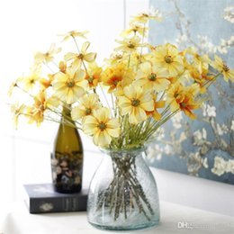 2019 crisantemi di seta Fioritura primaverio fiore artificiale blu crisantemo Galsang falso fiore di seta simulazione fiori decorazione domestica per feste 2 5jm dd sconti crisantemi di seta