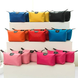 waterproof clutch bags Coupons - Top Quality Lady MakeUp Pouch Waterproof Cosmetic Bag Clutch Toiletries Travel Kit Casual Small Purse Candy 10 Colors