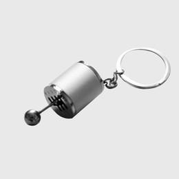 Boutons chauds en Ligne-Hot Mini Gear Shift Stick Bouton Porte-clés Porte-clés Porte-clés Argent Décorer