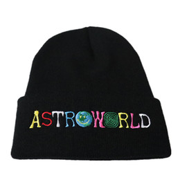 Canada 2018 Nouveau Bonnet Travi $ Scotts ASTROWORLD Bonnet en tricot Broderie Astroworld Ski Chaud Hiver Unisexe Travis Scotts Ski Bonnet Skullies Offre