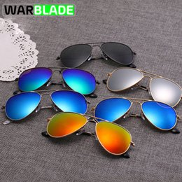119955eafe WarBLade Cycling Sports Outdoor Polarized Kids Gafas de sol Boys Girls  Silver Frame Blue Lens Pilot Sun Glasses para niños kids glasses no lenses  outlet