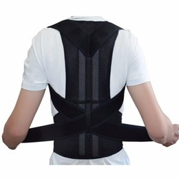correzione postura per gli uomini Sconti Adjustable Back Brace Posture Corrector Back Support Shoulder Belt Men  Women AFT-B003 Aofeite