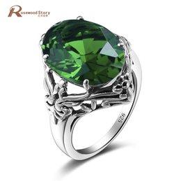 Принцесса серебристая онлайн-Royal Design Princess Cut Columbia Green Stone Crystal Ring Solid 925 Sterling Silver Solitaire Engagement Ring For Women