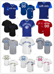 Wholesale toronto baseball jersey - custom Men's women youth Majestic Toronto Jersey Any Your name and your number Home Blue White Kids Girls Jay Baseball Jerseys