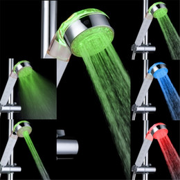 Wholesale Shower Water Jet - Wholesale-Temperature sensor 3 water jets multifunctional shower heads with lights