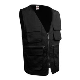 Wholesale Gray Photography - 2017 new men's vest vest many reporter photography vest colourful and colorful, youth fashion, simple and generous