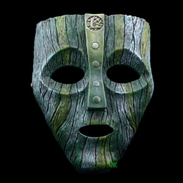 Trajes de deus on-line-Cameron Diaz Loki Máscaras de Resina Do Dia Das Bruxas Jim Carrey Máscara Venetian O Deus do Traje Masquerade Réplica Traje Cosplay Adereços